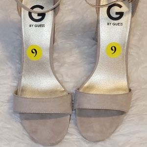 By guess  sandal size 9 beige